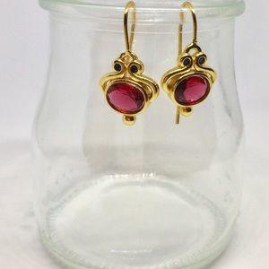 """3/$20 """"Last Pair"""" 18K Pink Tourmaline Earrings"""